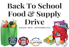 School District of Clayton Joins Clayton Fire and Police Departments to Collect Food and School Supplies