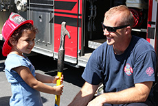 Clayton Fire Department Visits Family Center