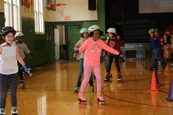 Glenridge Students Trade in Their Shoes for Rollerblades