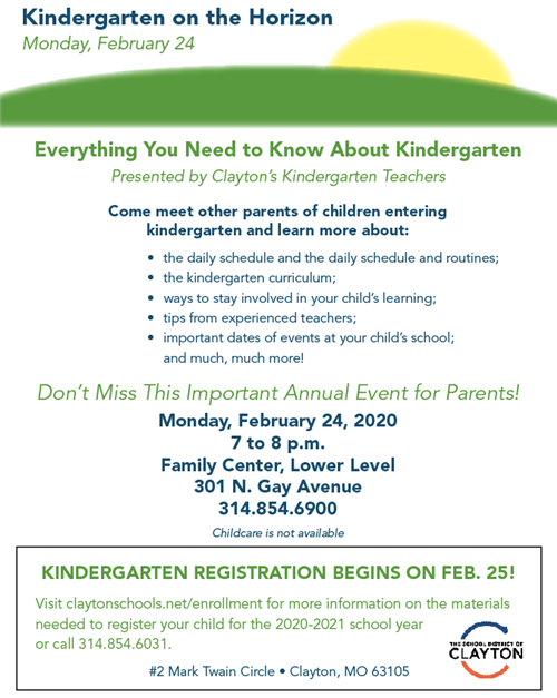 Kindergarten on the Horizon