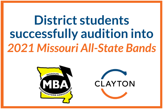 CHS Students Successfully Audition into 2021 Missouri All-State Bands