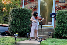 Meramec Fifth Grader Performs During WeCare Outdoor Concerts