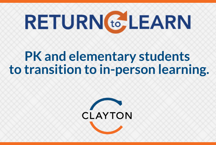 PK and Elementary Students to Transition to In-Person Learning