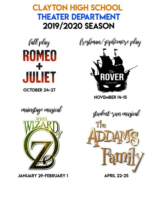CHS 2019/2020 Theater Season