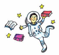 astronaut reading book - photo #16