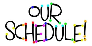 Image result for our schedule clipart