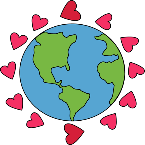 world with hearts